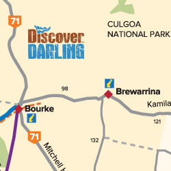 Brewarrina to Bourke map