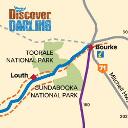 Bourke to Louth map