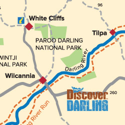 Tilpa to Wilcannia map