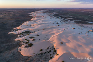 Mungo National Park aerial, Outback Rivers Drive