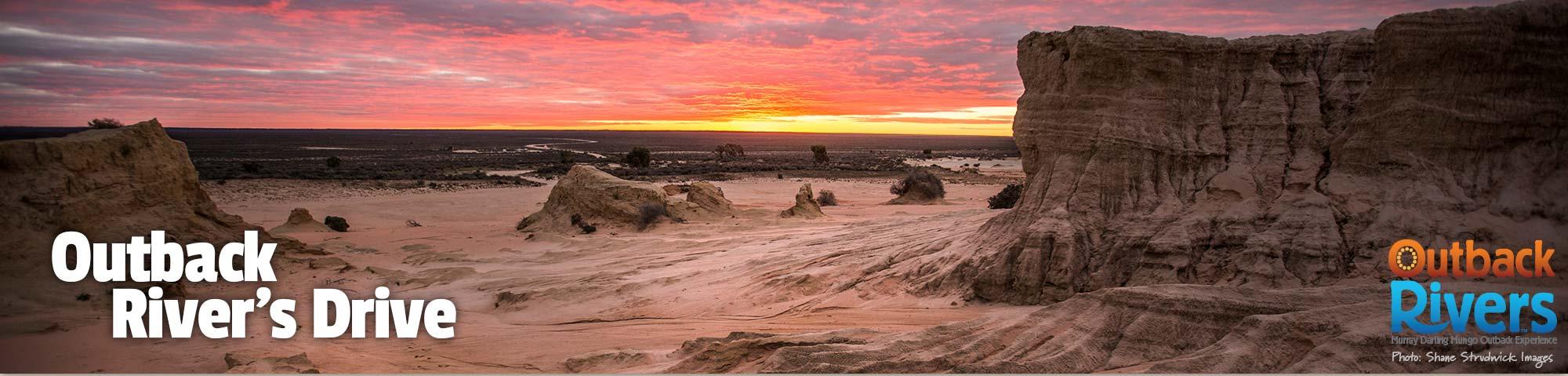 Outback Rivers Drive - Euston, Mungo National Park, Mildura - Shane Strudwick Images